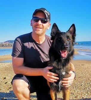 Oliver Kunz, der Master Österreich und Schweiz mit seinem Hund